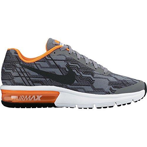 Nike Air Max Sequent Print (Gs), Zapatillas de Running para Niños, Gris (Gris (Cool Grey/Reflect Silver-Total Orange)), 35.5 EU
