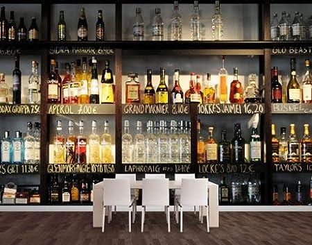 Wtd No No 296 Murale 21 Papier Peint Mural Motif Meuble De Bar En Bouteilles D Alcool Amazon Fr Cuisine Maison