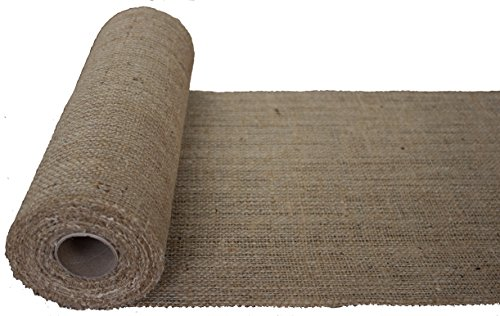 Burlapper Burlap Table Runner Fabric Roll, 12 Inch x 10 Yards, Premium Heavyweight Natural Jute for Weddings, Baby Showers, Parties, Arts and Crafts, Lawn and Garden (Made in USA) (48 Inch Wide Rolls)