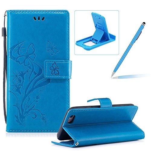 [해외]아이폰 6S 플러스, 아이폰 6 플러스, 허저 Bookstyle 휴대용 지갑 케이스에 대한 스트랩 가죽 케이스 꽤 세련된 [버터 플라이 플라워 디자인] 스탠드 마그네틱/Strap Leather Case for iPhone 6S Plus,Portable Wallet Case for iPhone 6 Plus,Herzz...