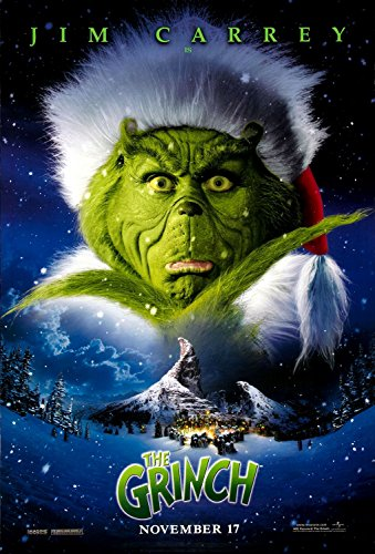 How the Grinch Stole Christmas Dr. Seuss Jim Carrey Rolled Original Near Mint Double Sided 27x40 Movie Poster ()