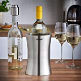 VonShef Wine Cooler Bottle Holder - Stainless Steel Double-Wall Insulated