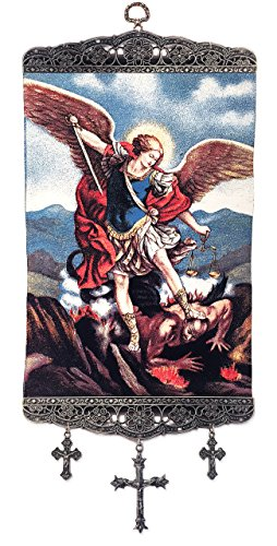 Religious Gifts St Saint Michael Archangel Tapestry Icon 17 3/4 - Michael Icon Archangel