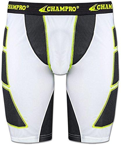 Champroスポーツ大人用on-deck野球Sliding Shorts B01BFNTBIW S|ホワイト ホワイト S