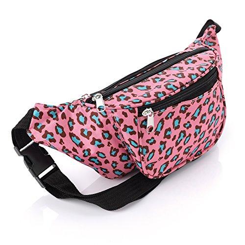 Neon Pink Animal Leopard Print Waist Bag