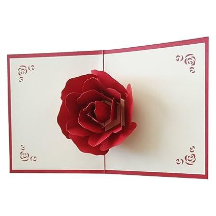 Kofun Sobre de Tarjeta de felicitación, 3D Pop Up Feliz Navidad Tarjeta de felicitación Cumpleaños Tarjeta de invitación de año Tarjetas de Papel ...
