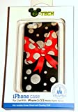 iphone 5 case disney world - Disney D-tech World WDW Parks Authentic 2015 Minnie Mouse Red Bow Black Silver Dots Iphone 5 5s Phone Hard Case Screen Guard Cleaning Cloth