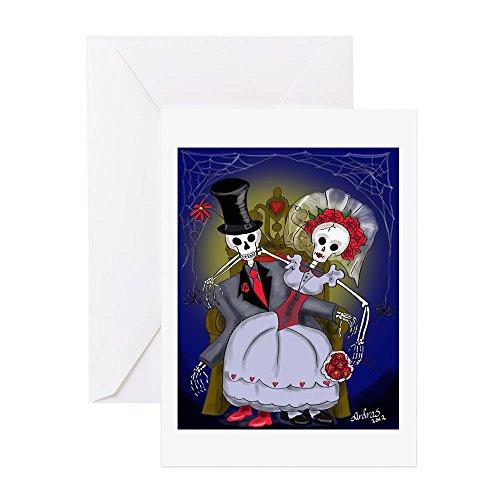 CafePress Muertos Bride And Groom Greeting Card, Note Card, Birthday Card, Blank Inside Matte ()
