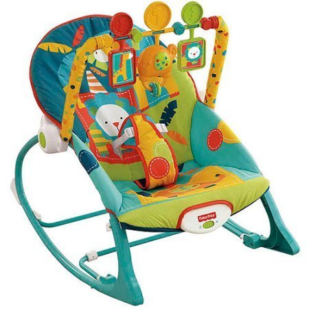 Fisher-Price Infant to Toddler Rocker Sleeper, X7046, Safari Pattern