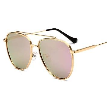 Sabarry Mode Gato Ojos Gafas de Sol polarizadas for Mujer UV400 Reflectantes renden Espejo Rosa Rosa