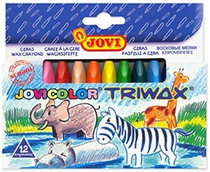 JOVICOLOR TRIWAX Caja de 12 Lápices de suave al cera de colores Assorties-146009: Amazon.es: Oficina y papelería