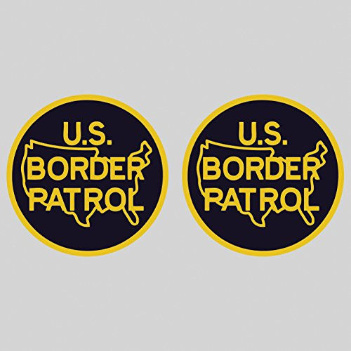 fagraphix Two Pack US Border Patrol Sticker Decal Self Adhesive Vinyl immigration homeland security FA - Decal Patrol