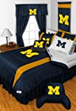 NCAA Michigan Wolverines - 6pc BEDDING SET - Twin/Single Size