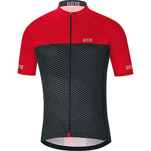 Grigiographite Optiline A Gore WearUomoMaglia CiclismoC3 Da Jersey100175 Maniche Traspirante Corte Greyrosso 54LqcRS3Aj