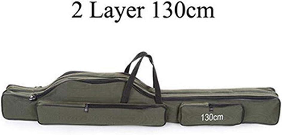 Mehrzwecktr/äger Angelrute K/öder Werkzeuge Aufbewahrungstasche Fall JICYU Angeltasche tragbare Falten Angelrutentasche