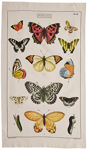 Cavallini Papers Butterfly Vintage Cotton Tea Towel