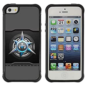 Planetar® ( Abstract ) Apple iPhone 5 / 5S Hybrid Heavy Duty Shockproof TPU Fundas Cover Cubre Case