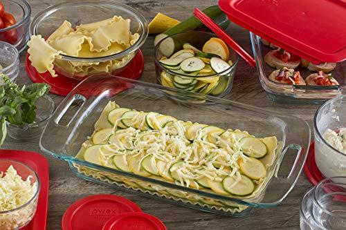 Pyrex Easy Grab Glass Bakeware and Food Storage Set (28-Piece, BPA-free)