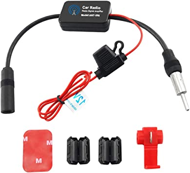 Auto Car Radio FM AM Antenna Enhance Signal Booster Amplifier 12-13dB