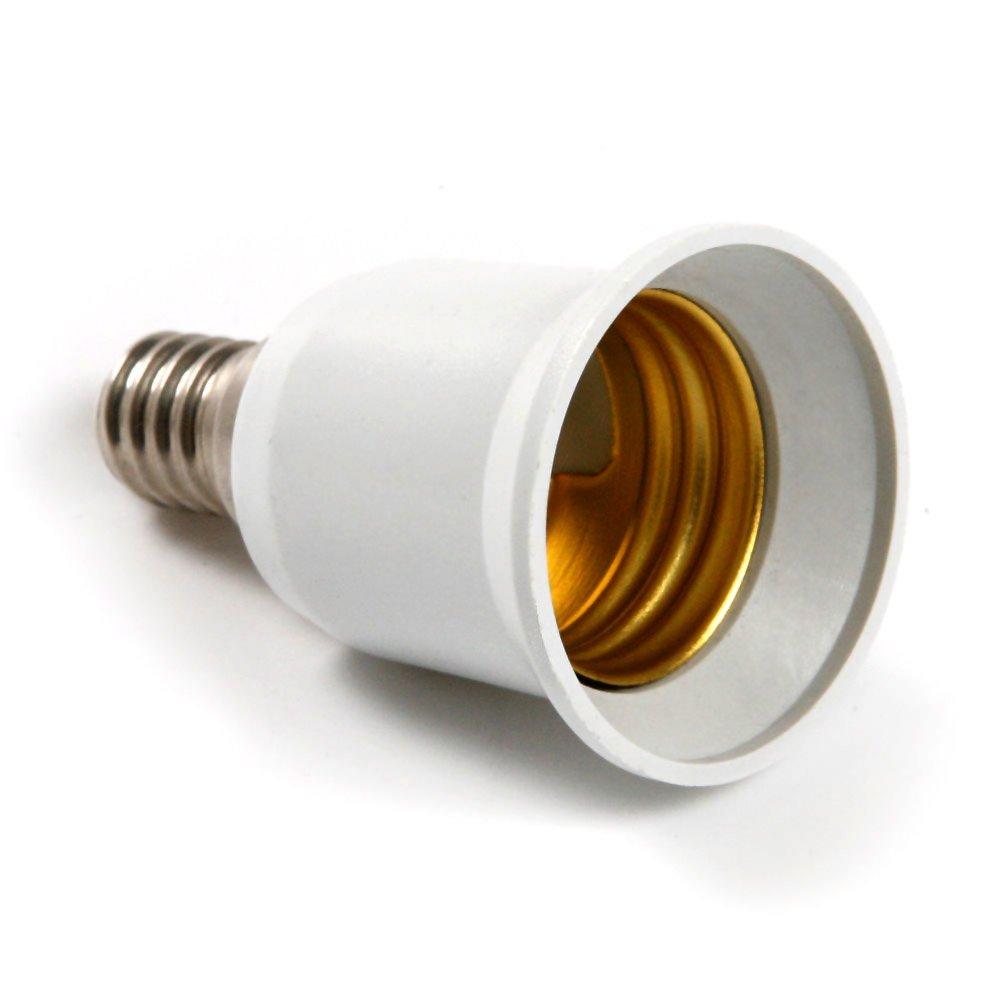 Kasstino Convert E14 Small Edison Screw SES to E27 ES Light Bulb Holder Adapter Connector