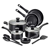 T-fal Simply Clean Total 12pc Non-Stick Cook Set - Black