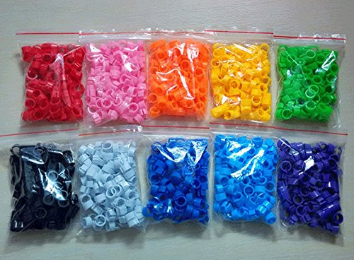 Click.Store 100pcs Bird Rings Leg Bands for Pigeon Parrot Finch Canary Hatch Poultry Rings