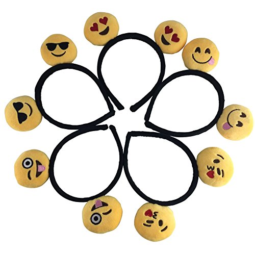 JOX JOZ Emoji Emoticon Girls Boys Cute Headband Hairpin Hair Clip Headwear Hair Band Kid (5 pieces)