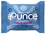 Bounce Vanilla Almond Protein Energy Ball - Whey Protein, Gluten Free, Non-GMO, Vegetarian, All Natural Snack - 1.48 Ounce, 12 count