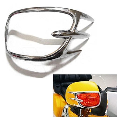 Chrome Turn Signal Lights Decoration Trims For Honda Goldwing GL1800 2001-2011 (Gl Signal Light Turn)