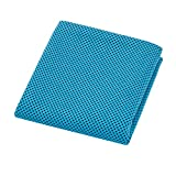Candy86 Cooling Towel, Super Absorbent Microfiber Towel 39.37 x 11.81 inch Cool Cold Towel Perfect for Outdoor Activities Camping Yoga Beach Golf Travel Gym Sports Swimming in Hot (blue)