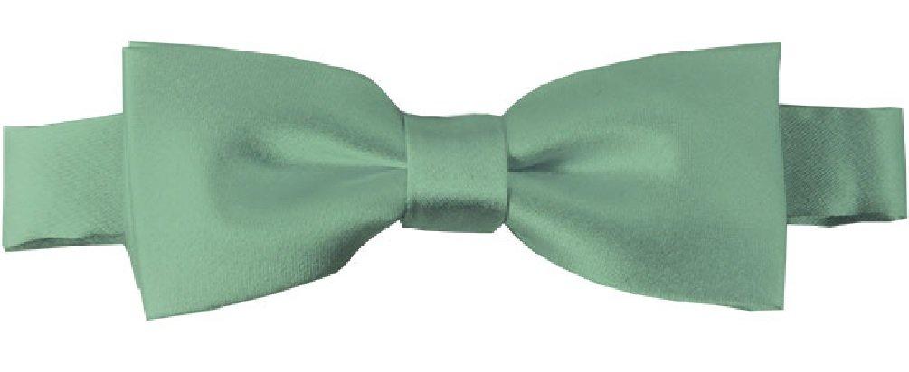NYfashion101 Boys Solid Color Adjustable Pre-Tied Bow Ties Kelly Green