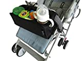 Premium Quality Universal Stroller Organizer,Extra Storage Bag, Insulated Cup Holder,Snack Tray.Extra Rings For Toys,Glares,Teether Strap,Mobile Pouch, Foldable And Washable.A Must For Your Stroller