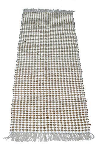- Chardin home Monterey Jute & Ivory Chindi Rug, Natural-Ivory, Size: 22''x70''