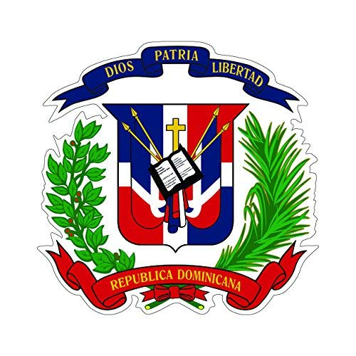 - Dominican Coat of Arms Sticker Die Cut Decal Self Adhesive Vinyl Made in USA