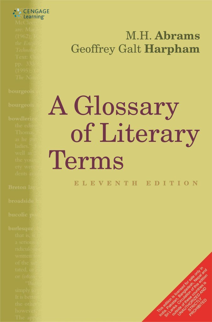 a glossary of literary terms geoffrey harpham m h abrams 本