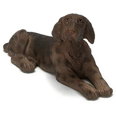Melody Jane Dollhouse German Shorthaired Pointer Lying Down Falcon Miniature Pet Dog 1:12: Toys & Games