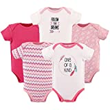 Hudson Baby 5-Pack Hanging Bodysuit, One of A Kind, 3-6 Months