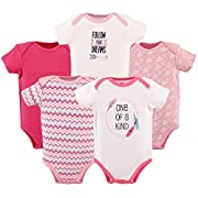 Hudson Baby 5-Pack Hanging Bodysuit, One Of A Kind, 0-3 Months