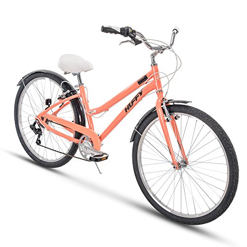 Huffy Womens Commuter Bike, Hyde Park 27.5 inch 7-Speed, Lightweight ()