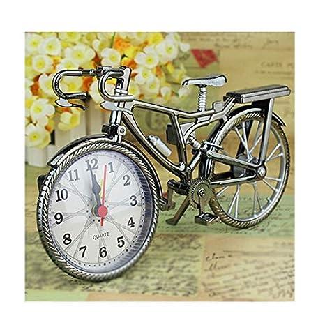 X-HH Reloj de Mesa, Reloj Árabe Digital Bicicleta Modelo Creativo ...