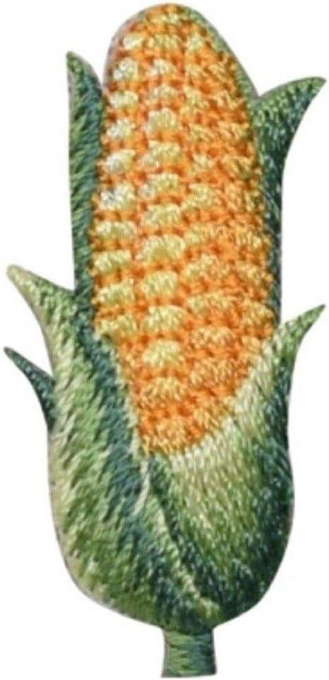Spk Corn Applique Patch - Cob, Husk, Ear of Corn, Food Badge 1.5
