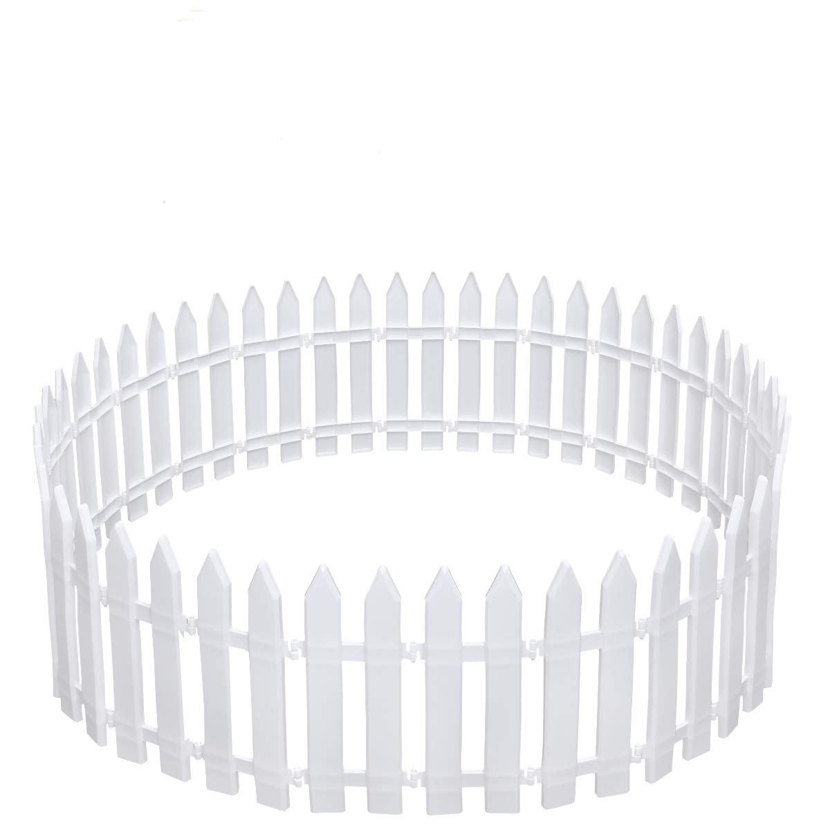 Amosfun White Plastic Picket Fence Christmas Trees Decorating for Xmas Tree Home Wedding Festive Party, Pack of 25