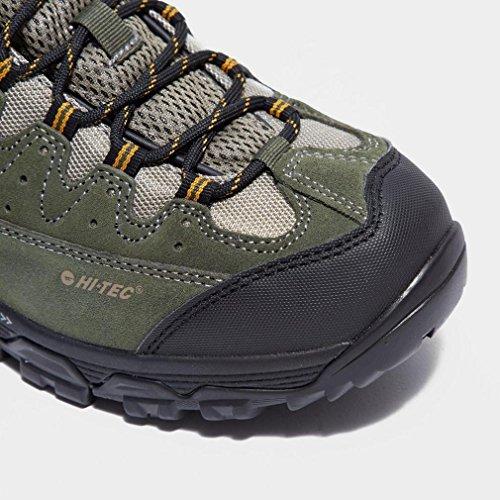 HALLO TEC Ox Belmont Low Wasserdicht Männer-Walking-Schuhe, Grün, 41.5