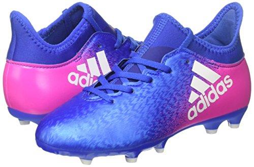 adidas X 16.3 FG J - Botas de fútbolpara niños, Azul - (AZUL/FTWBLA/ROSIMP), -28