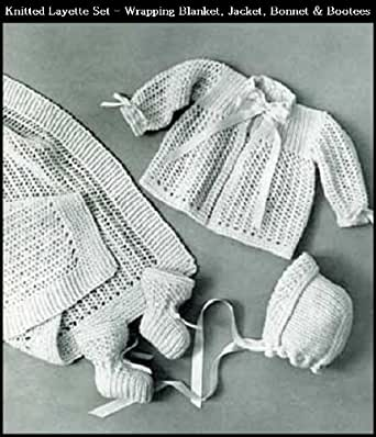 Amazon Knitted Infants Layette Set 4 Vintage Baby Knitting