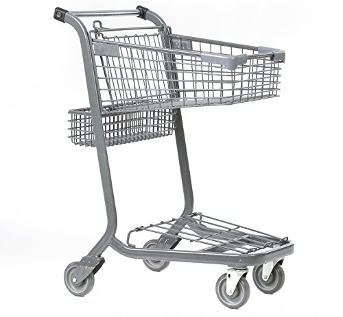 Advance Carts 55x-Gh-S XPress Series 55x Shopping Cart with Lower Tray, Granite Powder Coat, 55 L by Advance Carts