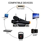 TONOR VHF Handheld Wireless Microphone System with Dual Hand Held Dynamic Microphones and LCD Display for Karaoke Party Classroom Meeting