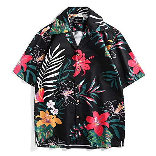 Workmanship In Hawaiian Holiday Wear Shirts For Men Trend Print Short Sleeve Turn Down Collar Chemise Sports Beach Quick Dry Boys Camisa Blouse Exquisite