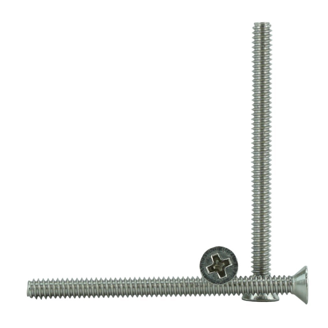 3//8 to 1-1//2 Available Stainless 4-40 x 3//4 Phillips Drive Stainless Steel 18-8 Full Thread 4-40 x 3//4 Machine Thread Flat Head Machine Screws