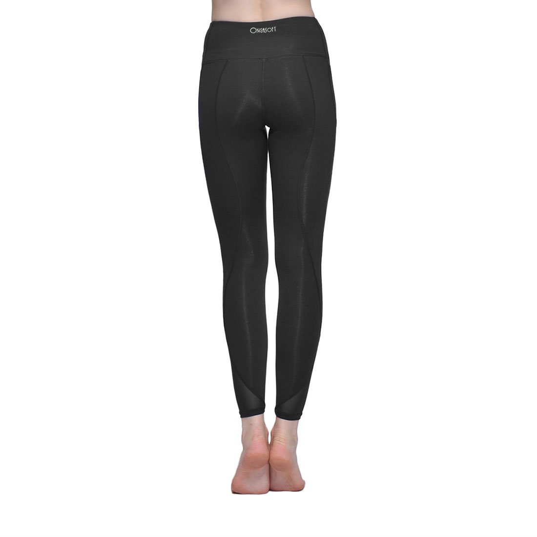 3b8a0d265aedc Amazon.com: ONGASOFT Yoga Pants for Women Fitness Mesh Workout Legging:  Sports & Outdoors